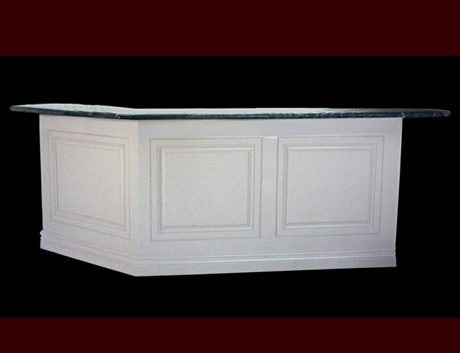 White Painted Raised Panel Bar.